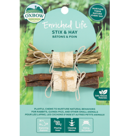 Oxbow OXBOW Enriched Life Stix And Hay Natural Chew 2 Pack