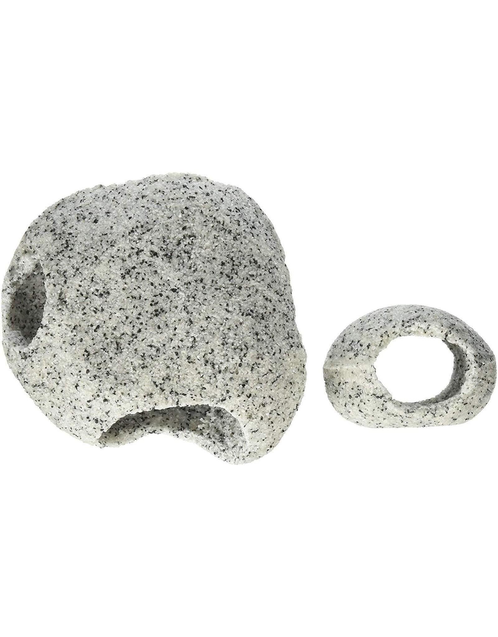 Penn Plax PENN PLAX Granite Stone Hideaway Small/Medium 2 pack