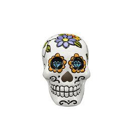 Penn Plax PENN PLAX Deco-Replica Sugar Skull Ornament  Medium White