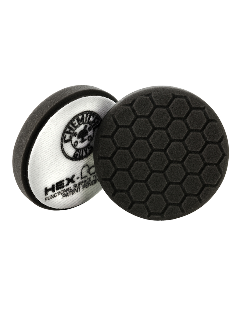 Chemical Guys 4'' Hex-Logic Pad -Black Finishing Pad (4''Inch)