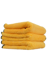 Chemical Guys Elite Microfiber Towel (16''X16'') Gold (3 Pack)-Gold w/ Black Microfiber Edges