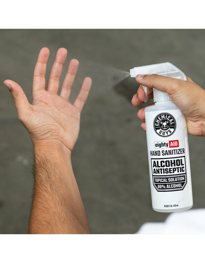 Chemical Guys Hand Sanitizer Alcohol Antiseptic 80% Topical Solution (16 oz)