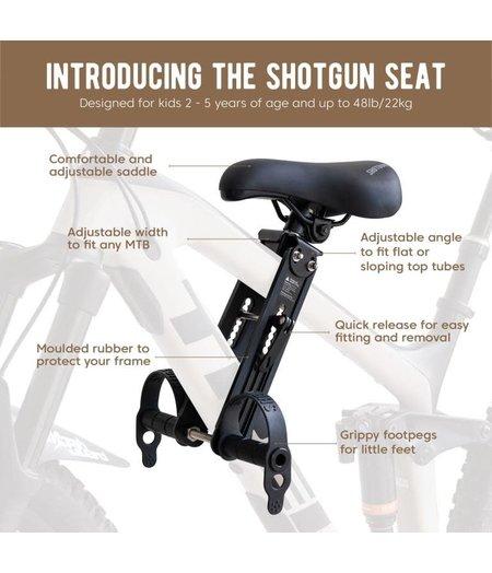 Kids Ride Shotgun Kids Toptube Seat Black