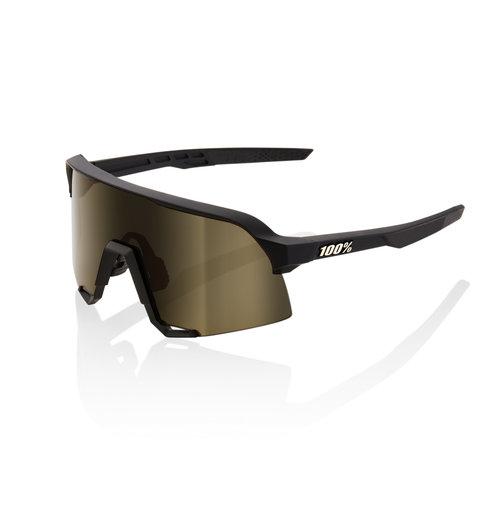 100% S3 Soft Tact Black Soft Gold Lens