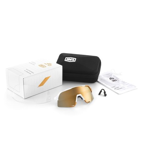 100% S3 PeterSaganLE White Gold Soft Gold Mirror Lens