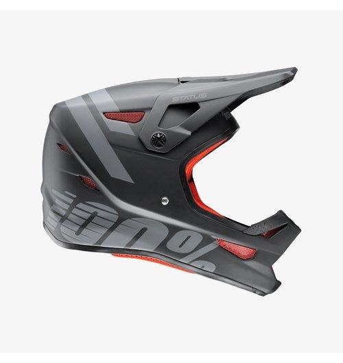 100% Status Youth Helmet Black Meteor SM