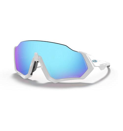 Oakley Flight Jacket Matte White W/Prizm Sapphire sunglasses