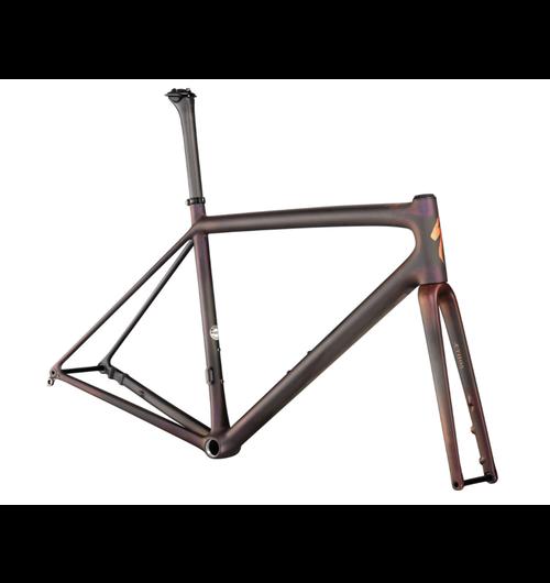 Specialized S-works Aethos Frameset 56 Satin Carbon/Red Gold Chameleon/Bronze Foil
