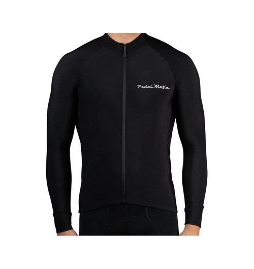 Pedal Mafia Mens Thermal Jacket Black White Logo