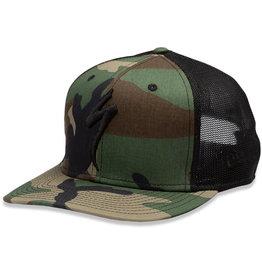 Specialized New Era S-Logo Trucker Hat Oak Green Camo