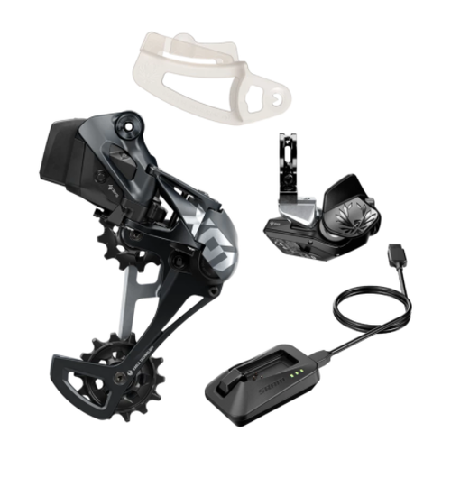 SRAM X01 Eagle AXS Upgrade Kit Lunar (Rear Der w/battery, Controller w/clamp, Charger)