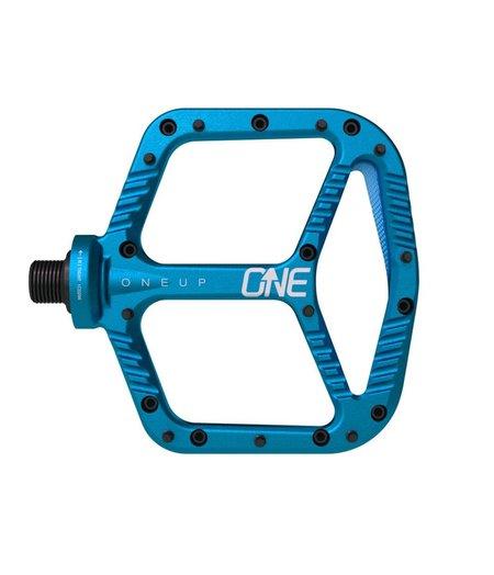 OneUp Flat Aluminum Pedals Blue