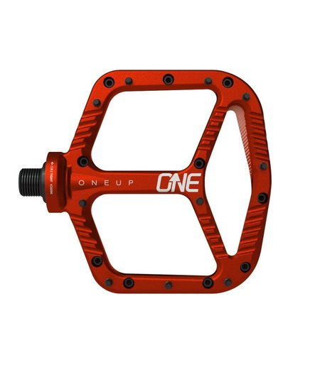 OneUp Flat Aluminum Pedals Red