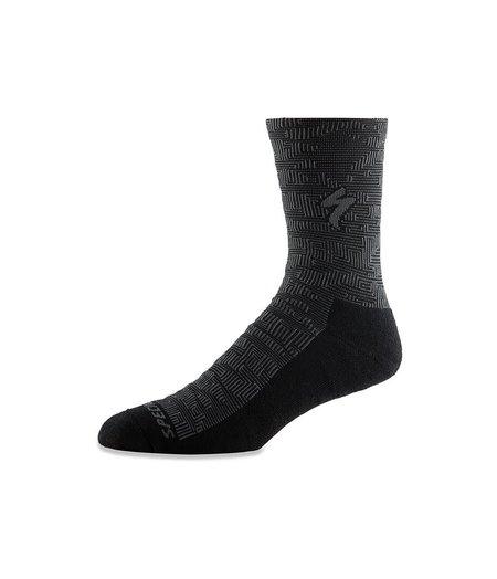 Specialized Techno MTB Tall Sock Black / Charcoal Terrain
