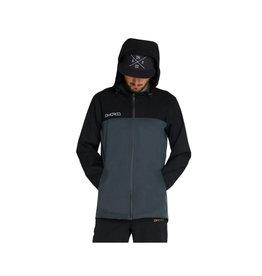 DHaRCO Mens Rain Jacket Black Grey