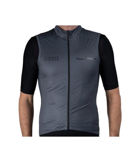 Pedal Mafia Mens Gilet Vest Coordinates Charcoal