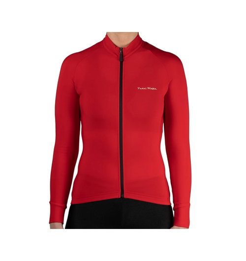 Pedal Mafia Women's Thermal Jacket Red White