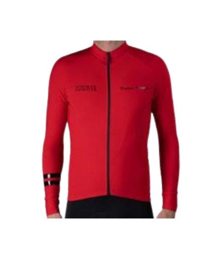 Pedal Mafia Men's Thermal Jacket  Coordinates Red