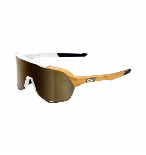100% S2PeterSaganLE White Gold Soft Gold Mirror Lens