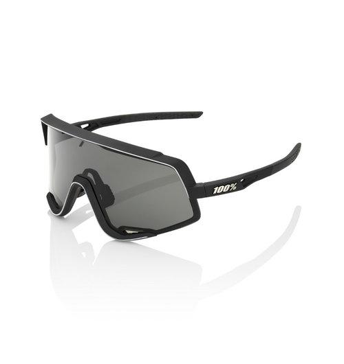 100% Glendale Soft Tact Black Sunglasses Smoke Lens