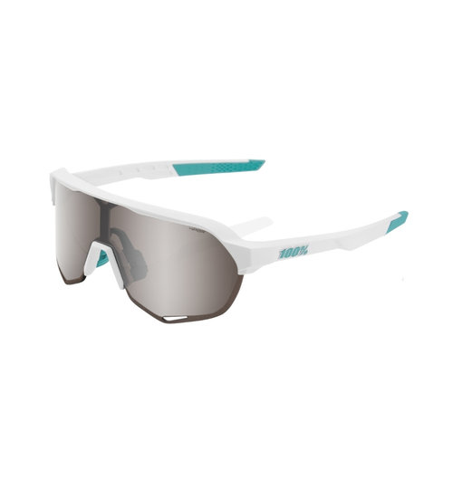100% S2 Bora Team White Hiper Silver Lens