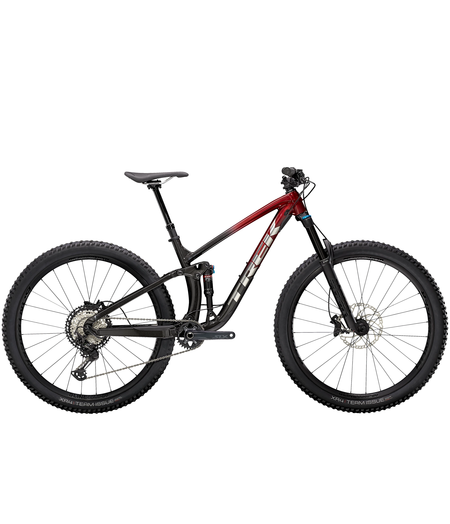 Trek Fuel EX 8 XT Rage Red to Dnister Black Fade