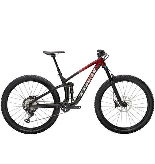 Trek Fuel EX 8  Rage Red to Dnister Black Fade