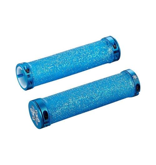 SupaCaz Diamond Kush Grips Blue Clear Bling