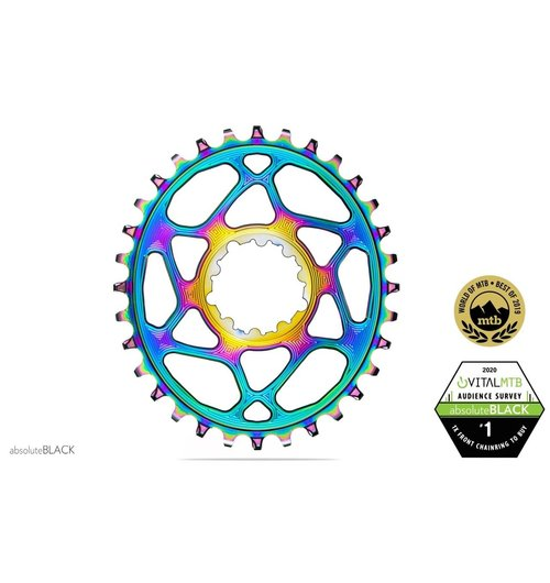 absoluteBLACK Oval PREMIUM SRAM DM Boost (148) NW Chainring - 3mm Offset 32 Tooth - PVD Coating
