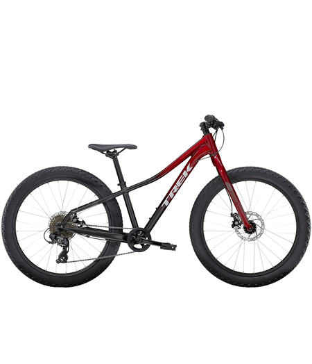 Trek Roscoe 24  Rage Red to Dnister Black Fade