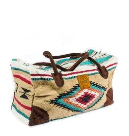 Lace Brick Designs Beige Weekender Bag