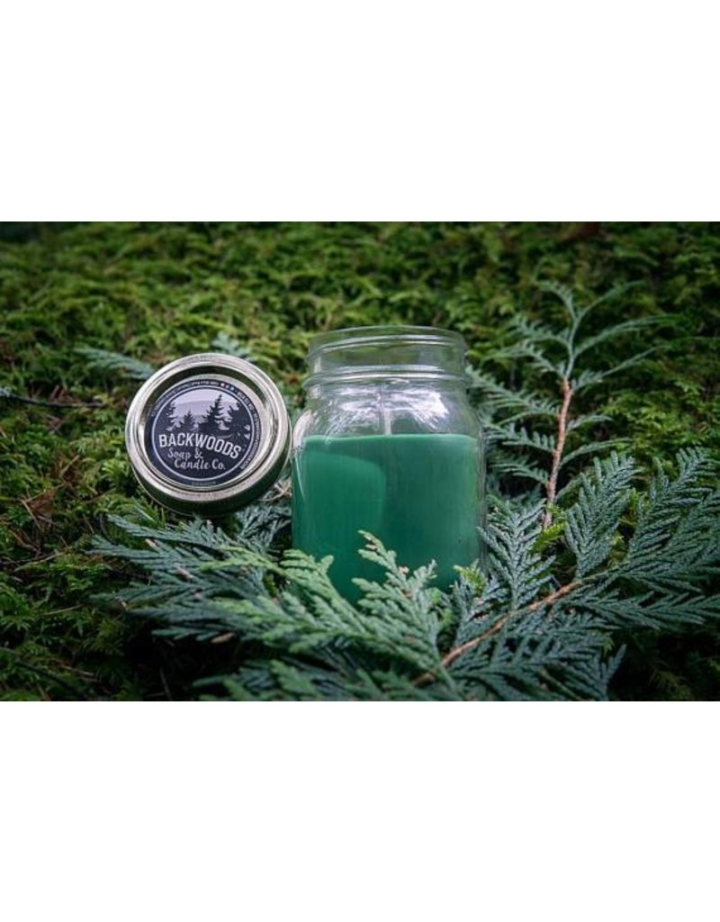 Backwoods Soap & Co Evergreen Large Mason