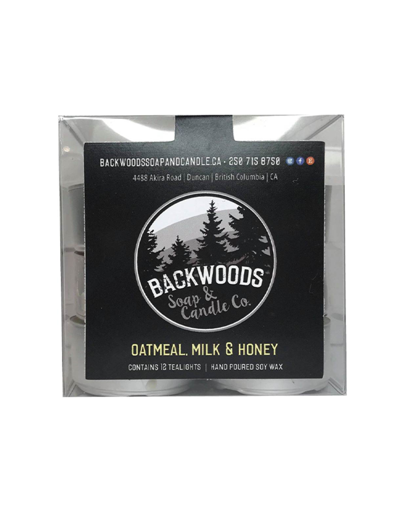 Backwoods Soap & Co Oatmeal Milk and Honey Tealights