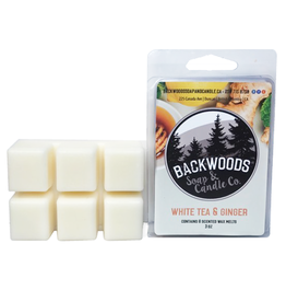 Backwoods Soap & Co White Tea and Ginger Wax Melt