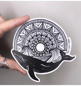 West Coast Karma Whale Mandala Sticker