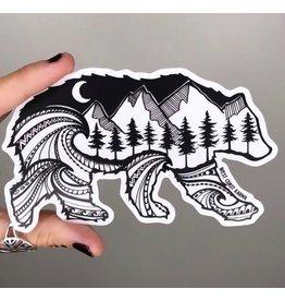 West Coast Karma Bear Sticker