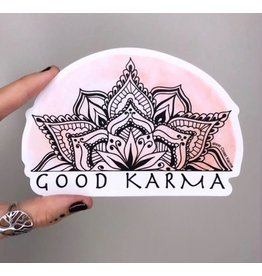 West Coast Karma Good Karma Watercolor Sticker