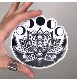 West Coast Karma Lotus Moon Sticker