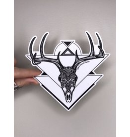 West Coast Karma Geometric Deer Skull Sticker