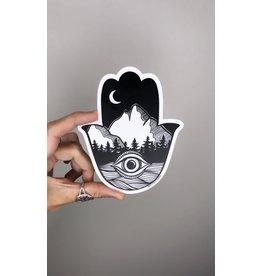 West Coast Karma Hamsa Hand Sticker