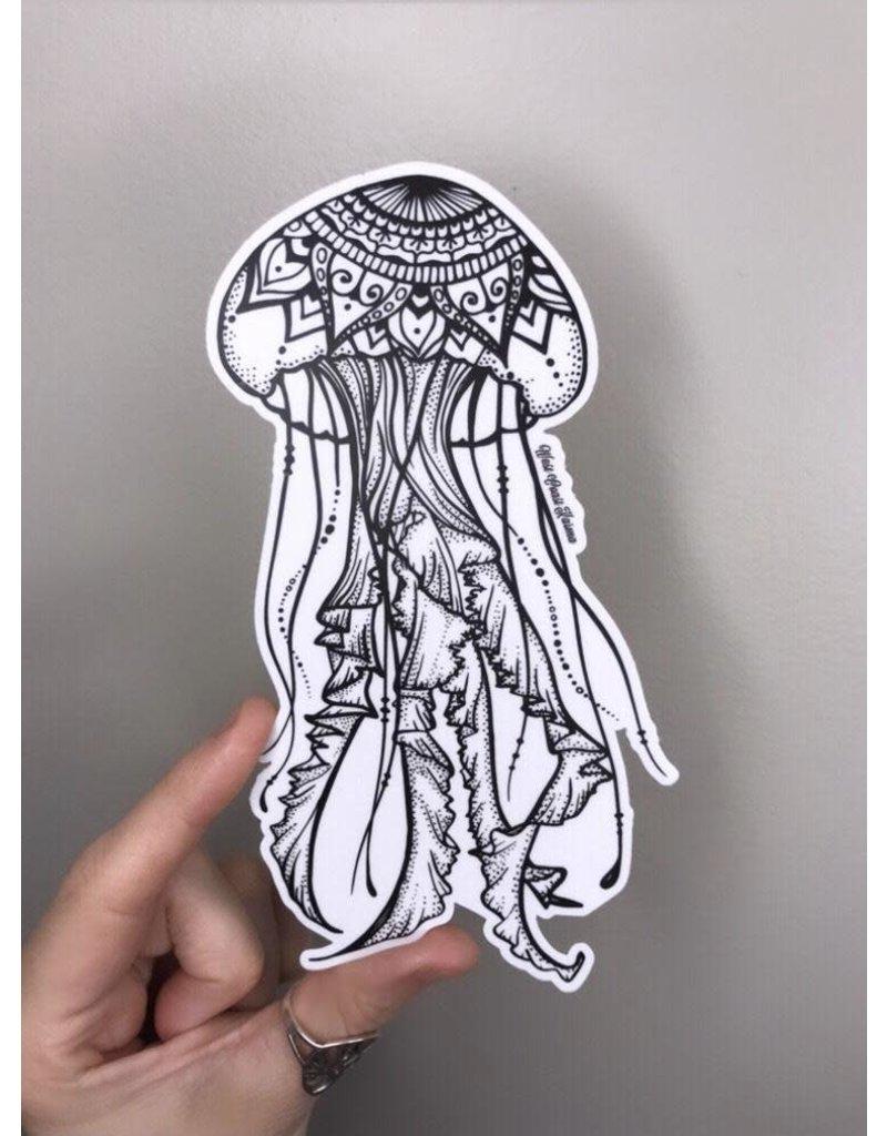 West Coast Karma Jellyfish Sticker