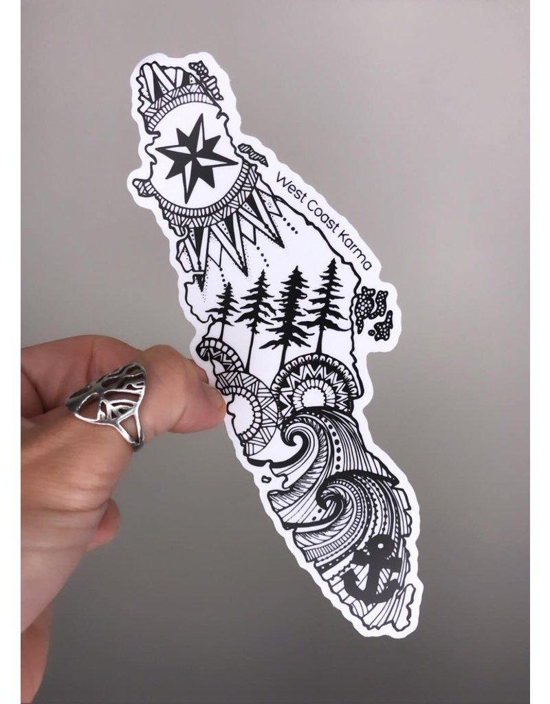 West Coast Karma VI Sticker