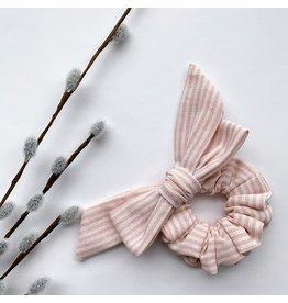 Lanna+Co Pink Stripes Kids Bow Scrunchie