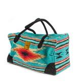 Lace Brick Designs Teal Weekender Bag