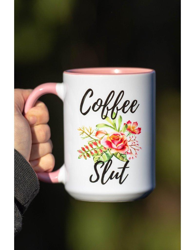 Cultured Coast Coffee Slut 15oz Pink Mug