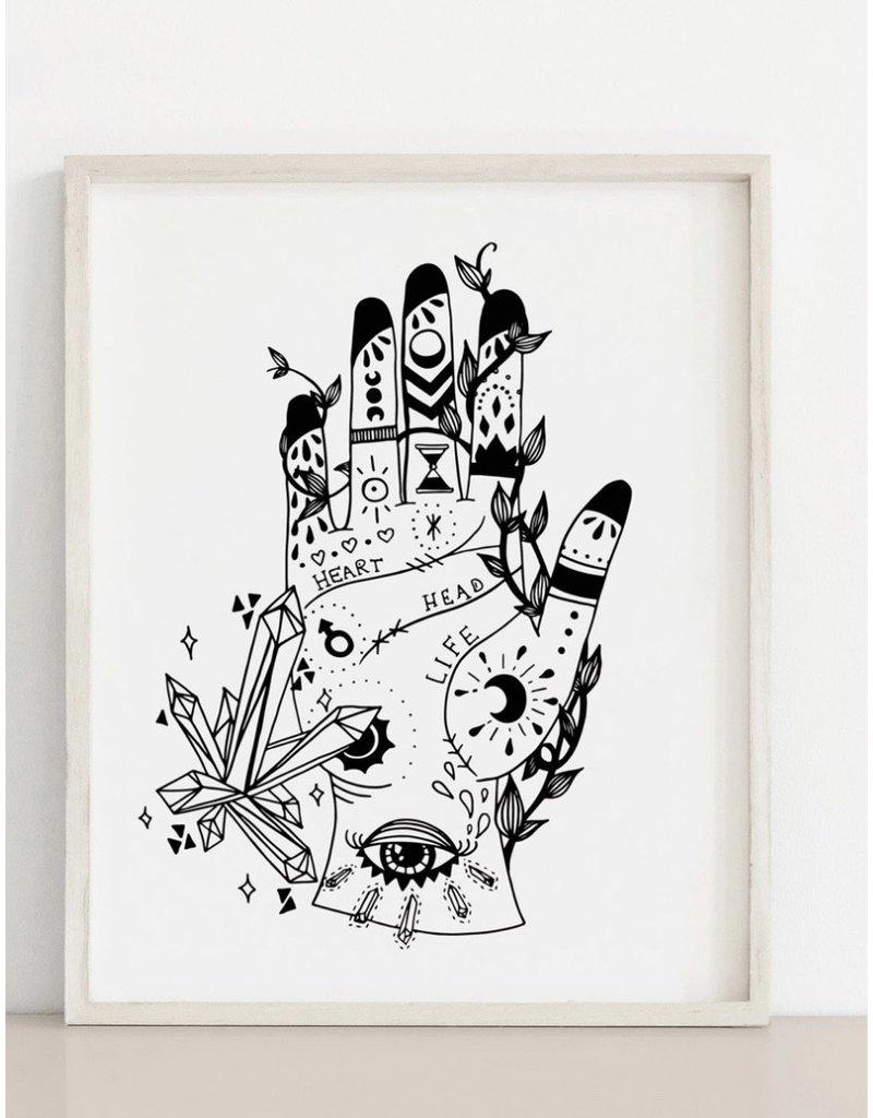 MELI.THELOVER Palmistry Hand Light Print