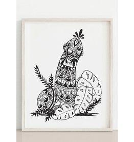 Melina Mandala Penis Print