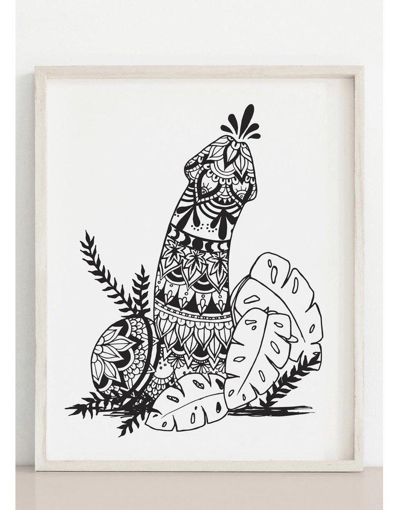 MELI.THELOVER Mandala Penis Print