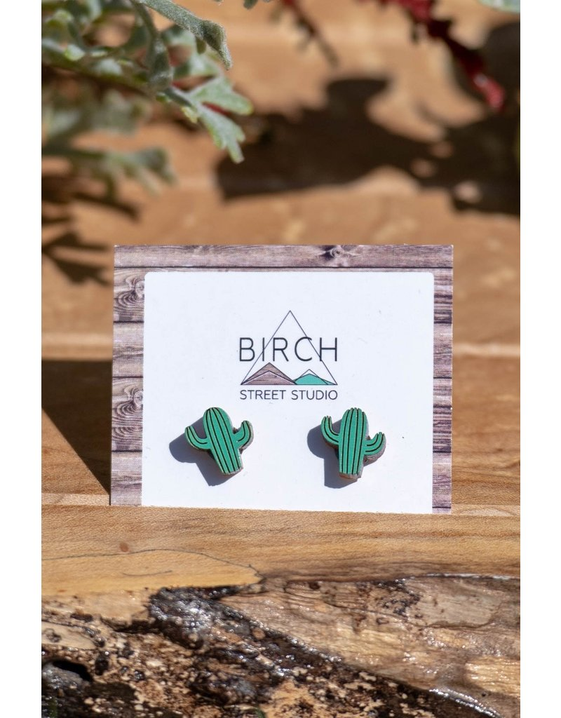 Birch Street Studio Cacti Studs