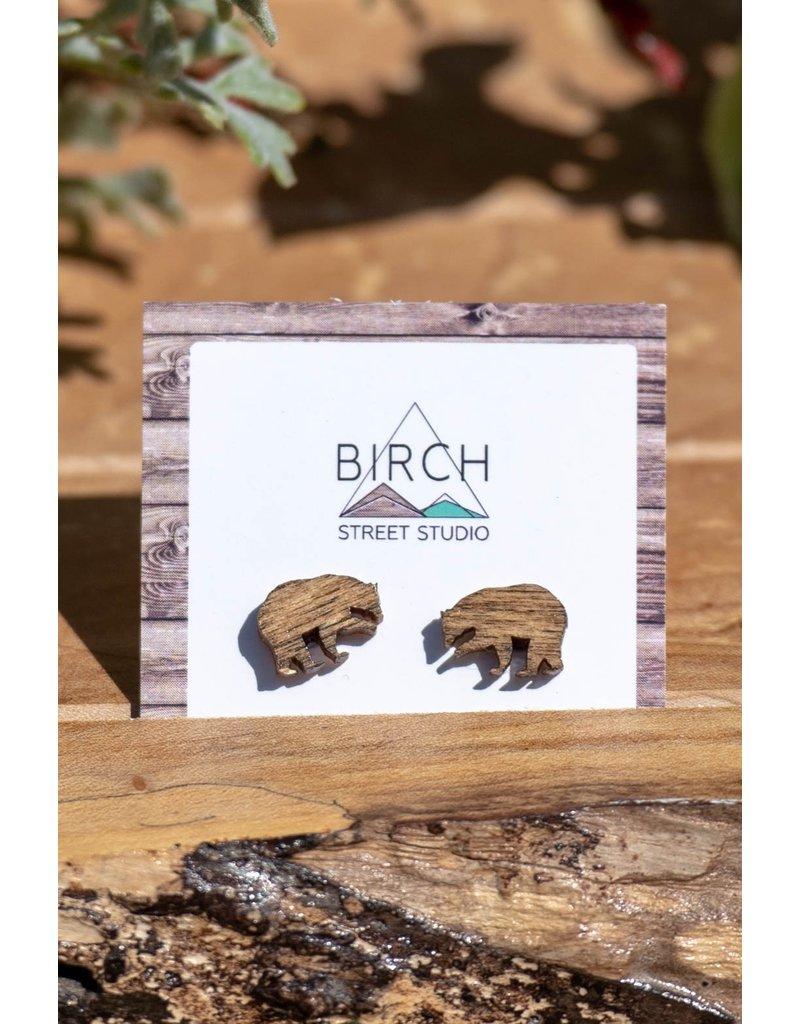 Birch Street Studio Bear Studs